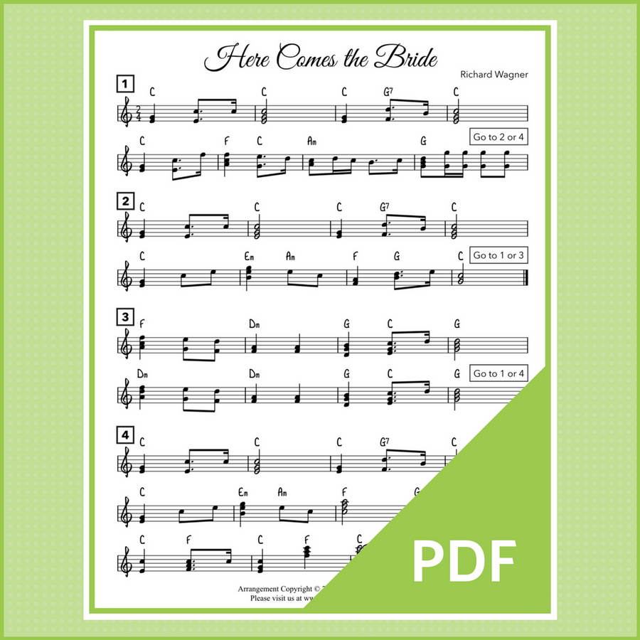 Two Wedding Processionals arranged for lead sheet