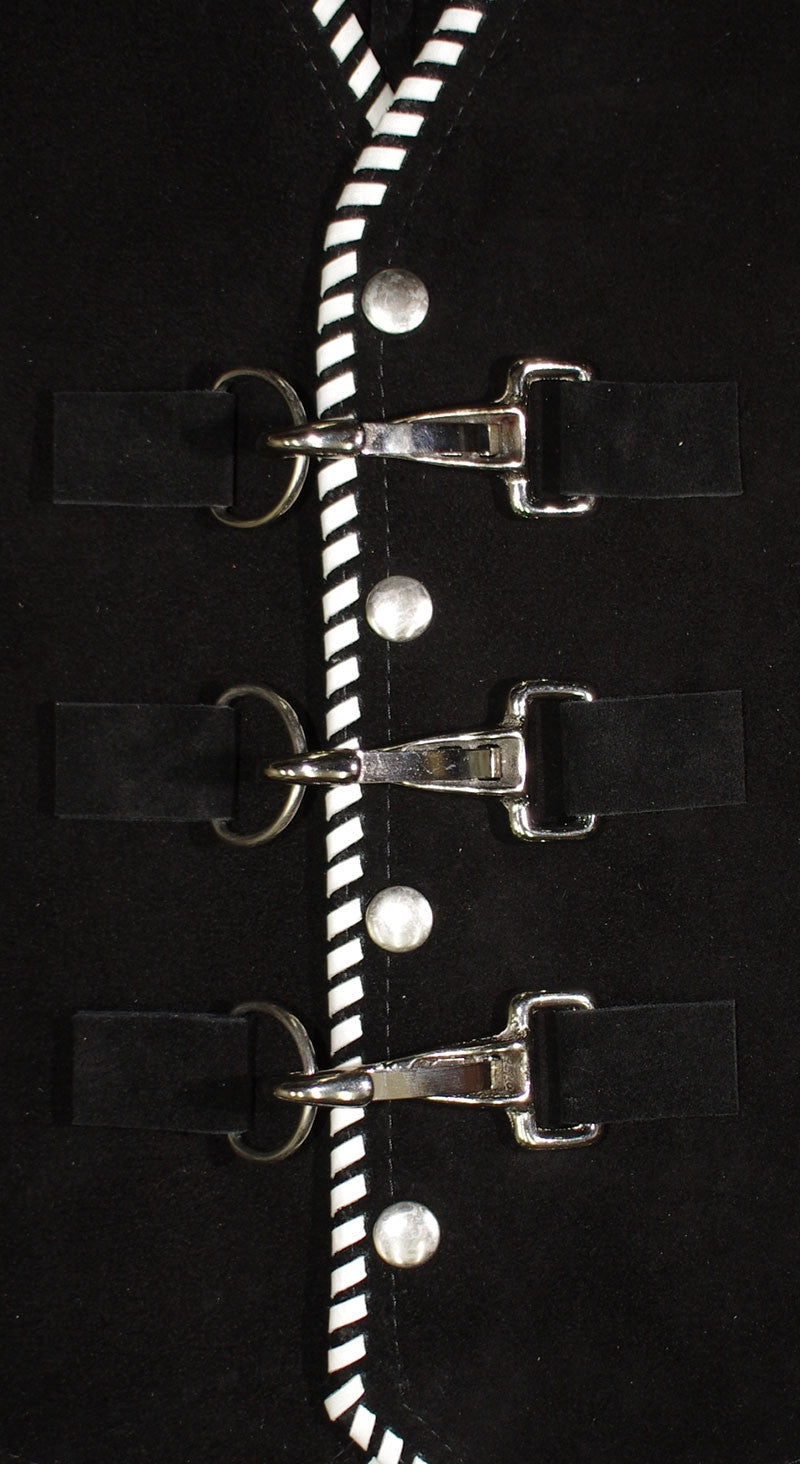 Vest hardware, 3 nickle clips to secure your vest