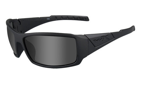 Wiley X, Twisted, Matte Black Frame with Grey Lenses.