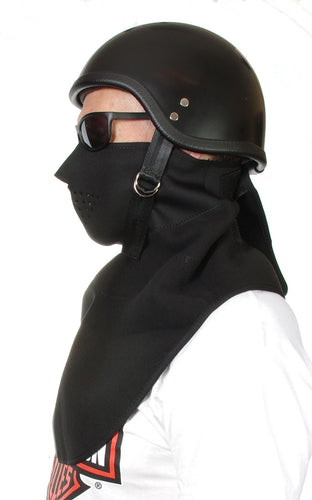 Microfleece half face mask, with fleece neck shield.