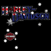 Harley-Davidson Australia flag vertical. Long sleeve with custom matching sleeves