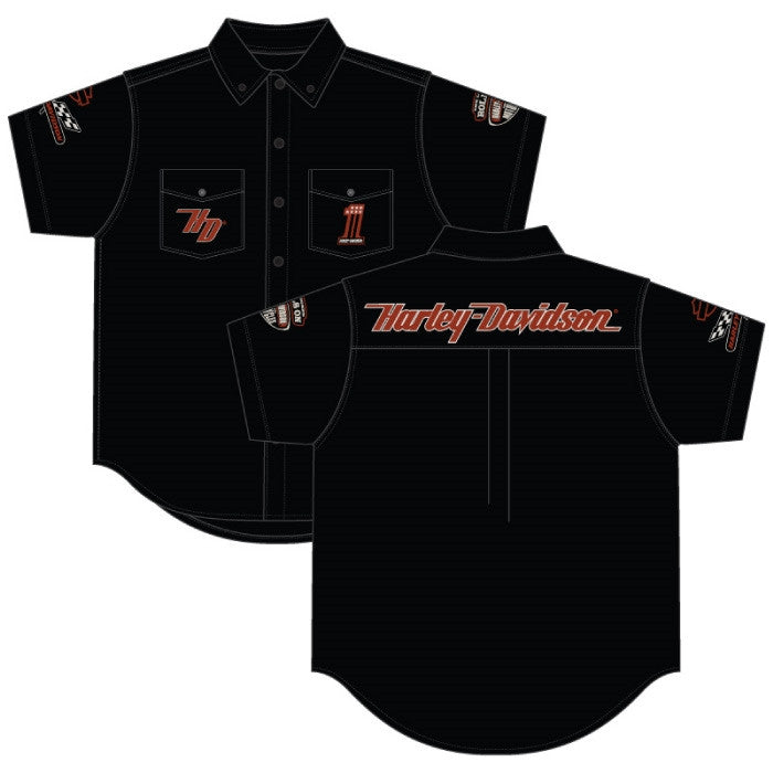 Harley-Davidson HD Legends Pitt Crew, dress shirt, twin button pockets, short sleeve