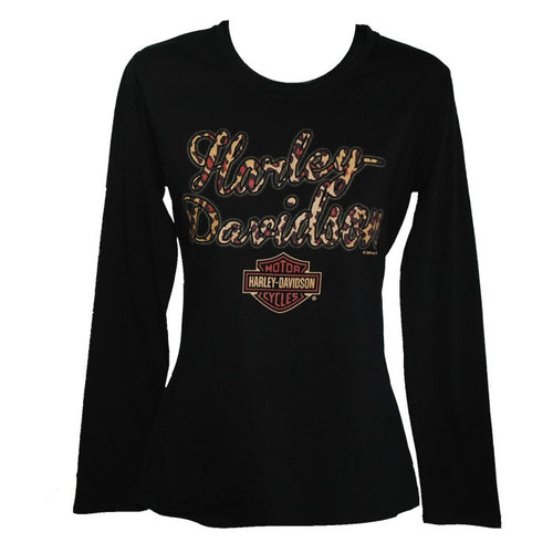 Ladies - Harley-Davidson Leopard Love Ladies Long Sleeve Tee