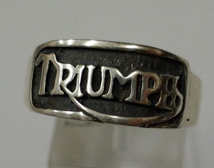 Sterling silver mens Triumph ring #11