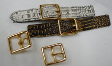 Real Gold plated brass buckles 25 mm wide
