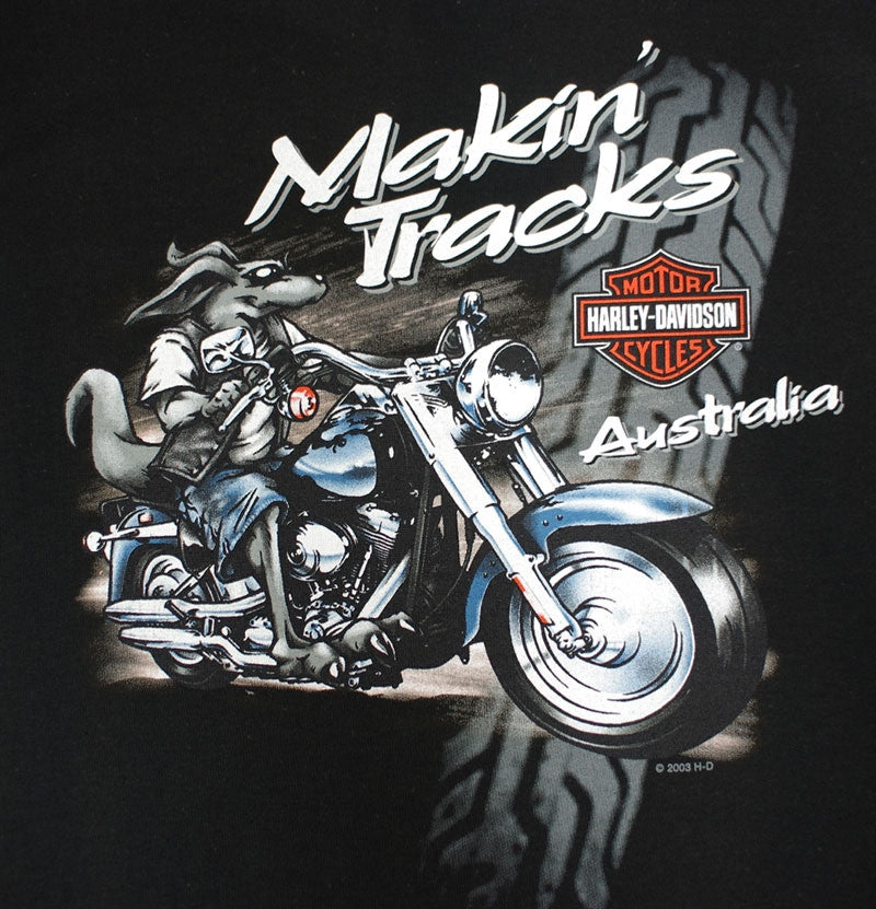 Harley-Davidson Makin Tracks, Black Tee-shirt