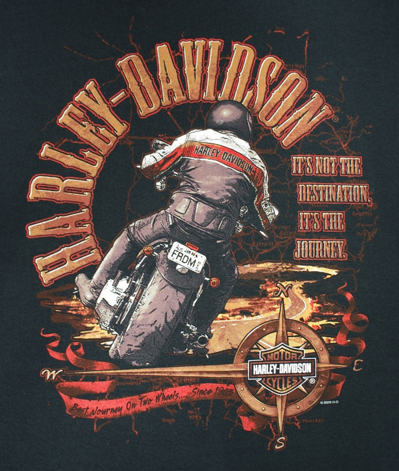 Harley-Davidson It's Not the Destination, It's the Journey, Black Tee-shirt