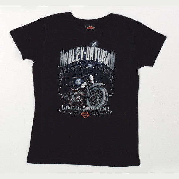 H-D Land of the Southern Cross Ladies fitted crew neck Tee-shirt