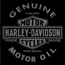 H-D Oil Can B&S classic logo single colour print on an American Muscle-Tee.