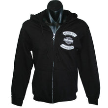 H-D Winged Bar and Shield printed zip front hoodie