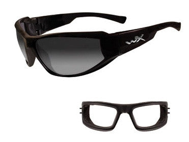Wiley X. Jake - LA Grey, Light Adjusting Lens/Gloss Black.