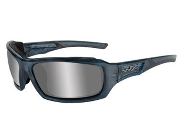 Wiley X. Eoho - Silver flash lense/smoke Steel Blue Frame