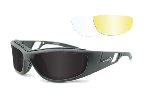 Matador Leon - Clear, Yellow and Smoke lenses , Matte Black frame.