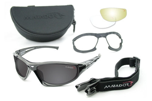 Matador Seville - Clear, Yellow and Smoke lense kit, Matte Black frame.