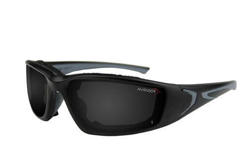 Matador Barcelona - Clear/Grey lense kit, Matte Black frame.