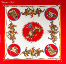 Western Bandana 54 cm square. Assorted designs. Made in the USA, Poly Cotton