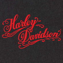 H-D Harley-Davidson Red Script grey hoodie fitted long sleeve pull over hoodie