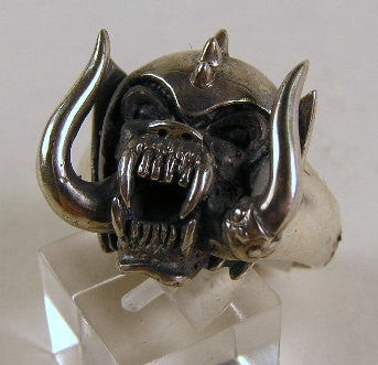 Sterling silver (925) mens Motor Head ring #588