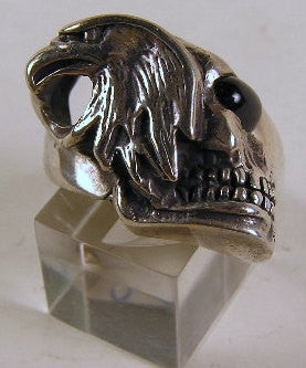Sterling silver (925) mens Eagle with Skull ring #20C