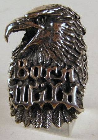 Sterling silver (925) mens Eagle Born Wild ring #477