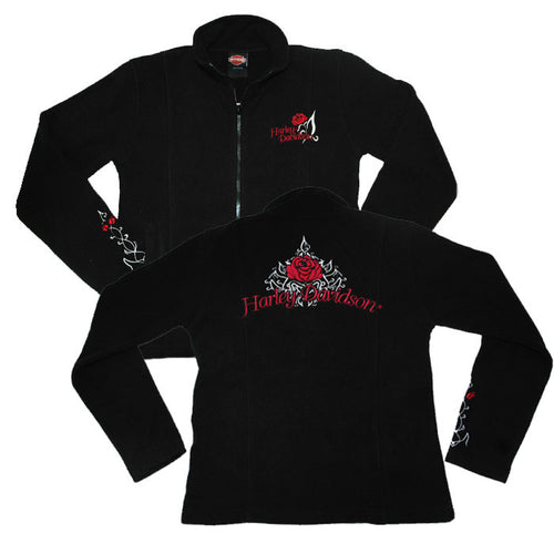 Harley-Davidson Rose Vine, Womens Polar Fleece