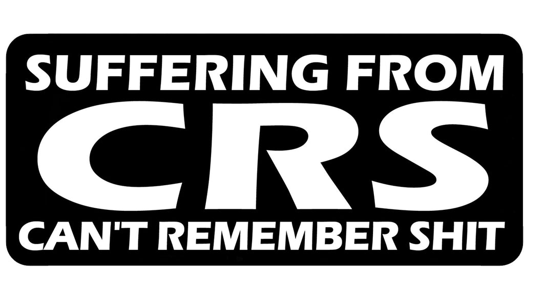 Suffering from CRS, 100mm embroidered patch