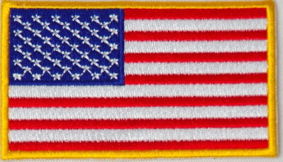 American flag.  87mm x 53mm embroidered patch