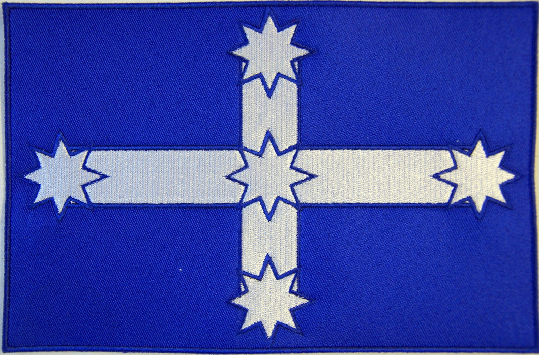 Eureka flag. 100mm wide embroidered patch