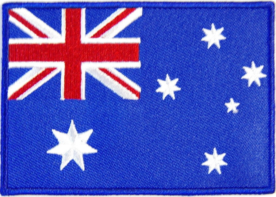 Australian flag. 100mm wide embroidered patch