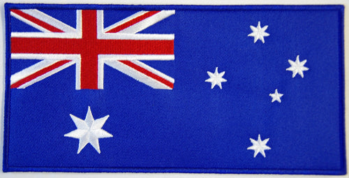 Australian flag. 200mm wide x 100 high embroidered patch