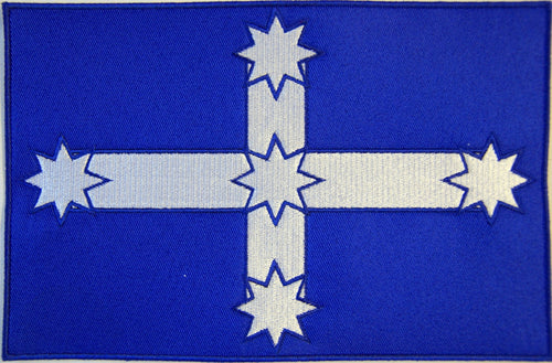 Eureka flag. 205mm wide x 135mm high embroidered patch