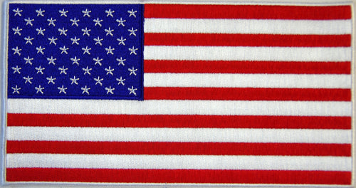 American flag. 205mm wide x 110 high embroidered patch