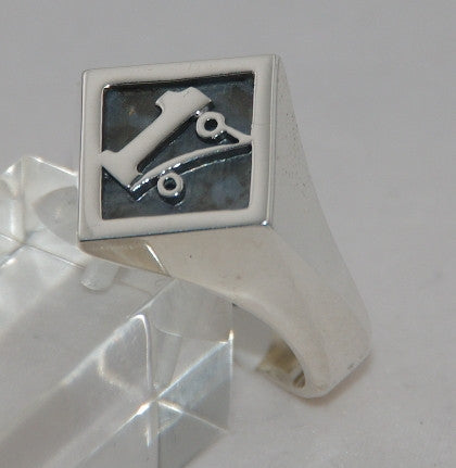 Sterling silver 1%. Mens ring #1162