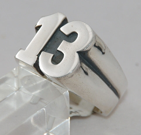 Sterling silver 13 mens ring.  Mens ring #1160