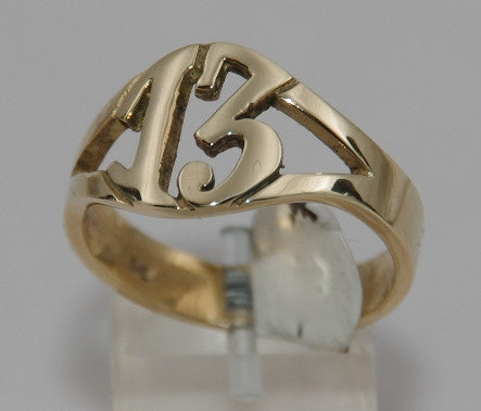 Gold 9ct 13 ring. #864/9ct