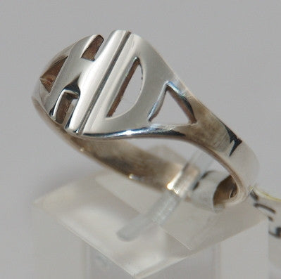 Sterling silver HD. mens ring #782