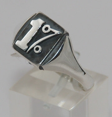 Sterling silver 1%. Mens ring #753