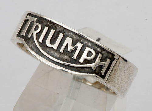 Sterling silver mens Triumph ring #1083
