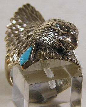 Sterling silver mens Eagle ring #R180