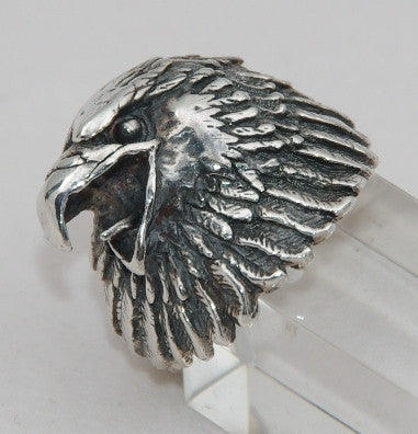 Sterling silver mens Eagle ring #503