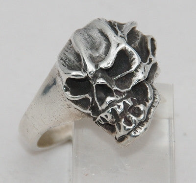 Sterling silver (925) mens large skull ring #3C