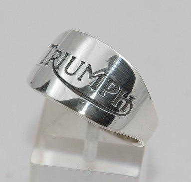 Sterling silver mens Triumph ring #174