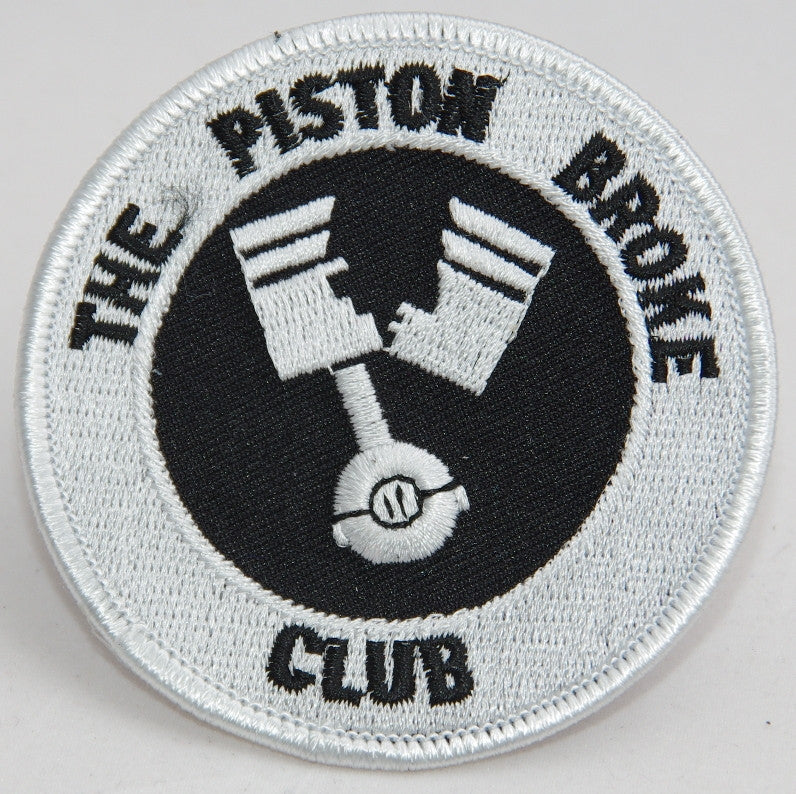 The piston broke club. 75 mm diameter embroided patch
