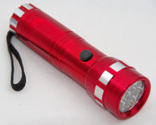 Large led torch 12 cm long, 14 LED's with aluminium body.