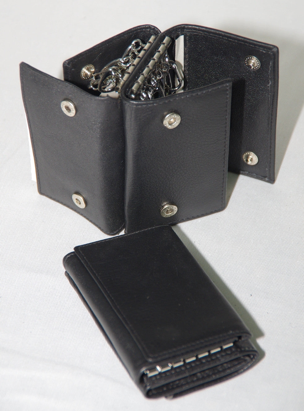 Mens leather double key case #616101/2