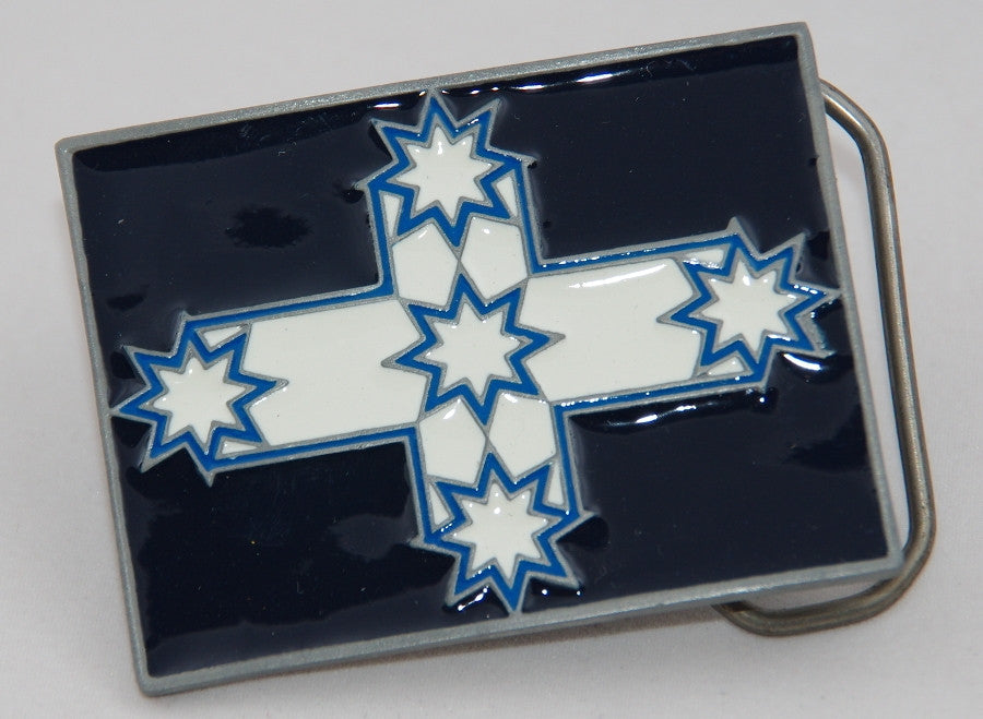 Eureka flag belt buckle.