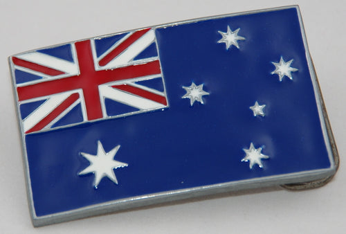 Australia flag belt buckle.