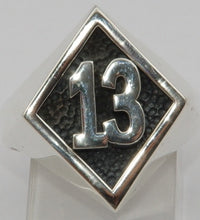 Sterling silver 13 mens ring.  Mens ring #1168
