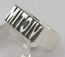 Sterling silver (925) VICTIM mens ring #1164