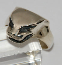 Sterling silver mens Panther ring #530S